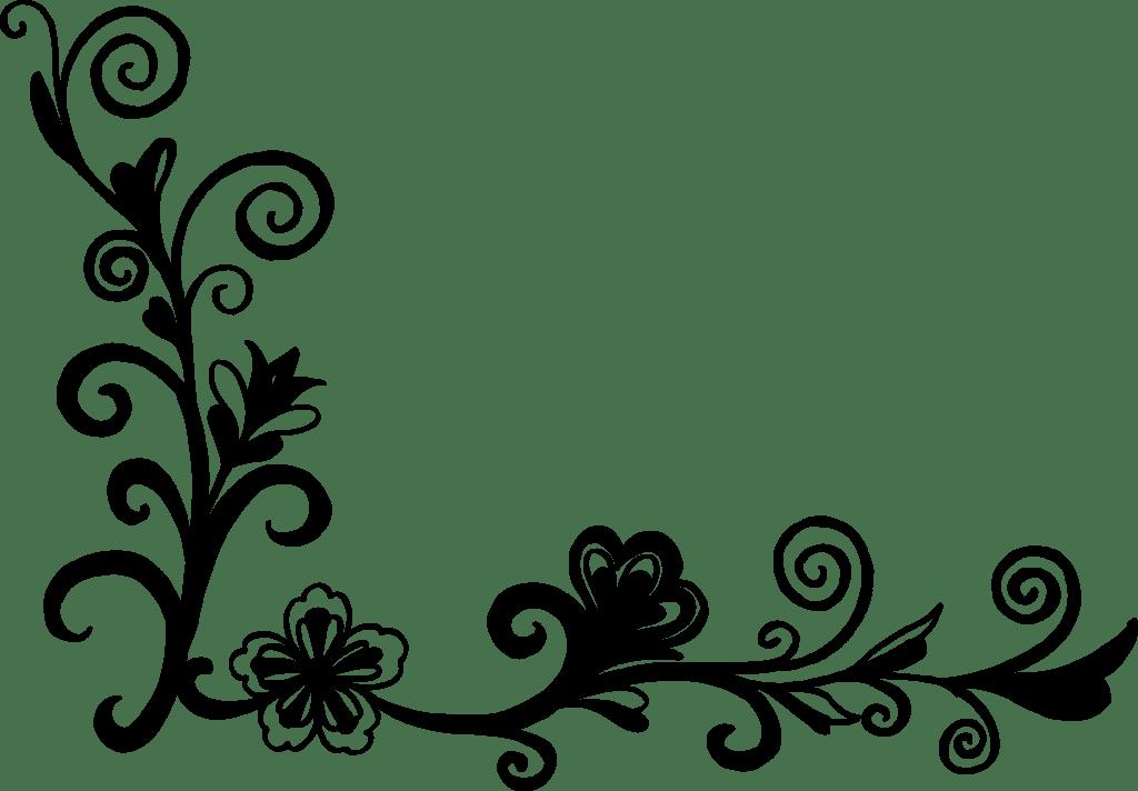 18 Flower Corner Vector PNG Transparent SVG