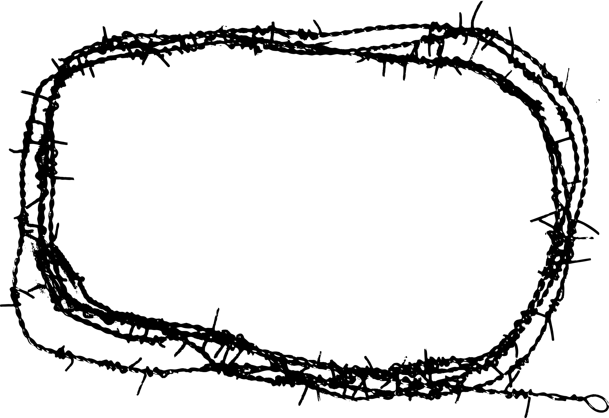 Amazing Barbed Wire Band Greenville Illustration - Electrical ...