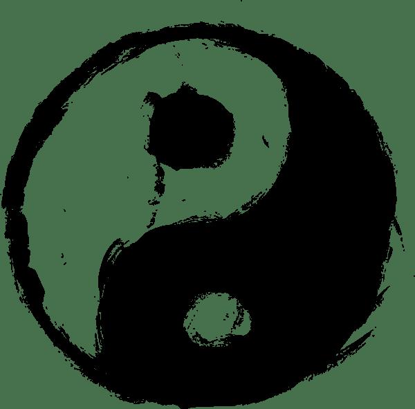 4 Grunge Yin Yang PNG Transparent OnlyGFXcom