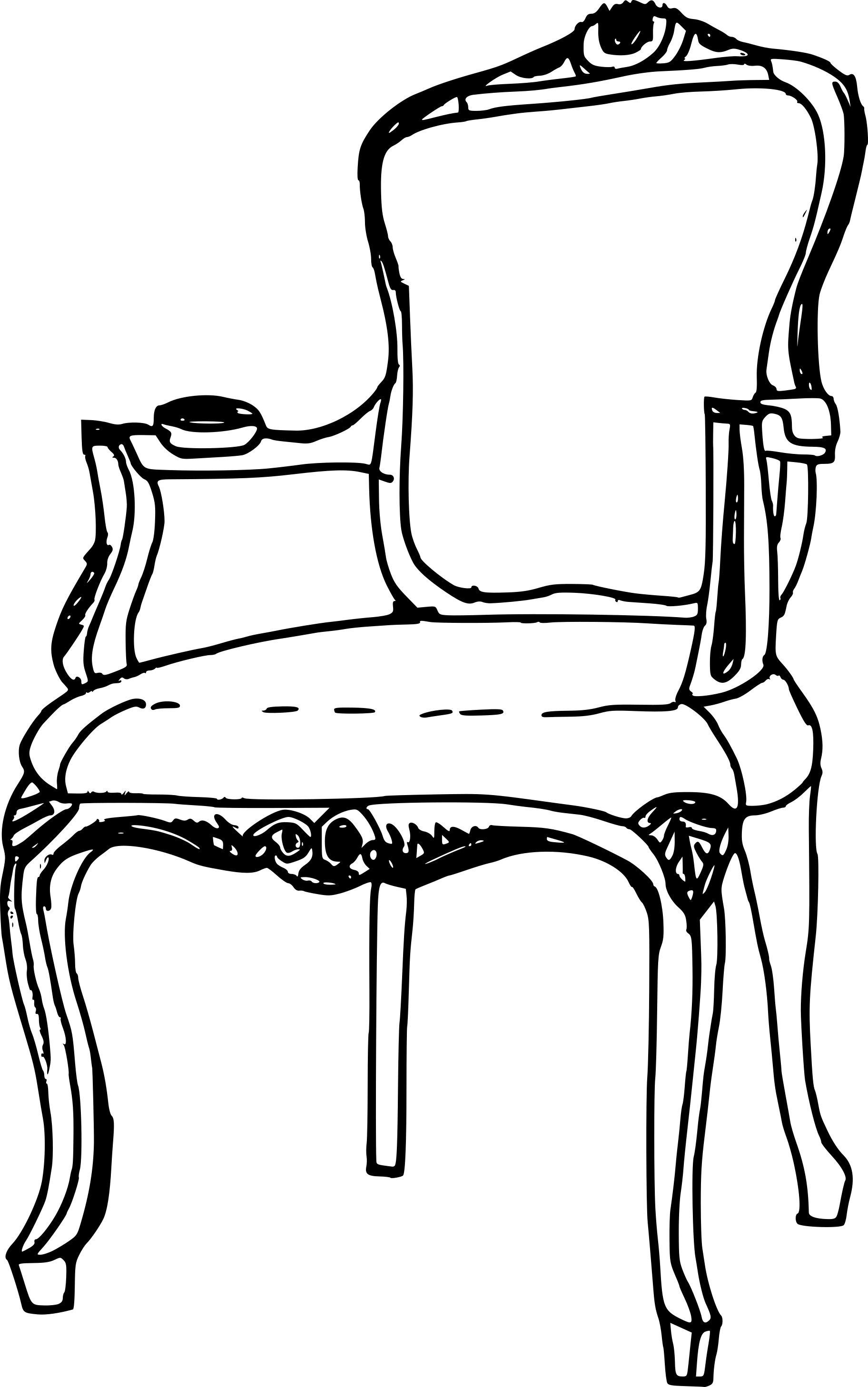 8 Vintage Antique Chair Drawing Transparent