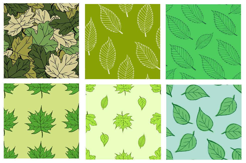 6 leaf tile background pattern png
