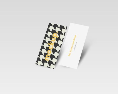 Slim Business Card Mock Up 01