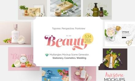 Beauty : Mockup Scene Generator