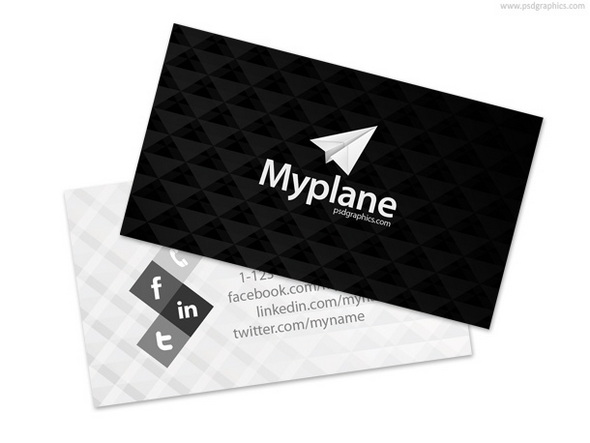 black-white-business-card-template