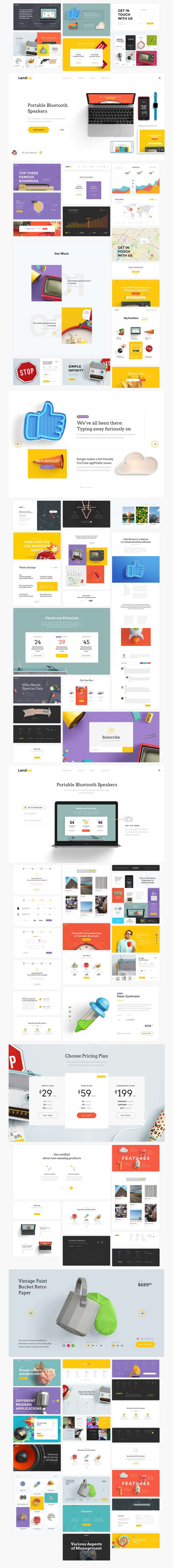 landing free ui kit lstore graphics