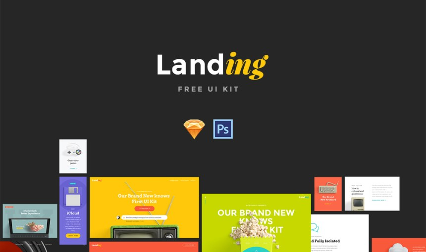 landing free ui kit