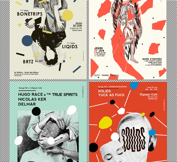 A Posters Design Selection From Michael Sallit