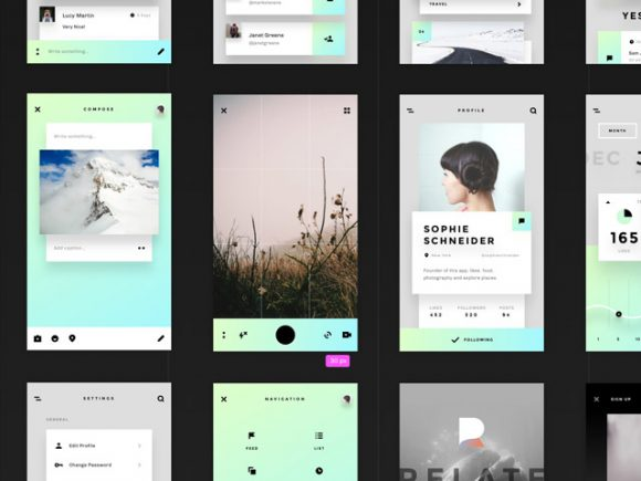 45 free templates for Sketch and Photoshop
