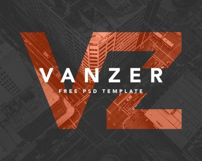 Vanzer-FREE-PSD-Portfolio-Website-Cover