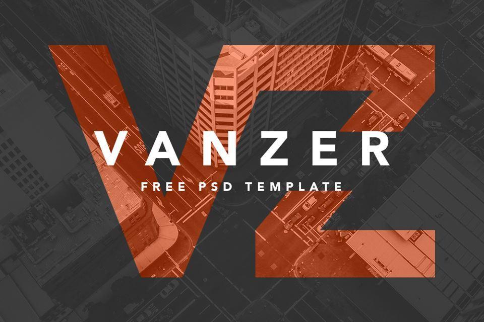 Vanzer : Free PSD Portfolio Website