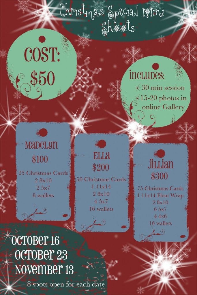 Christmas Mini Shoot Specials Lubbock Family
