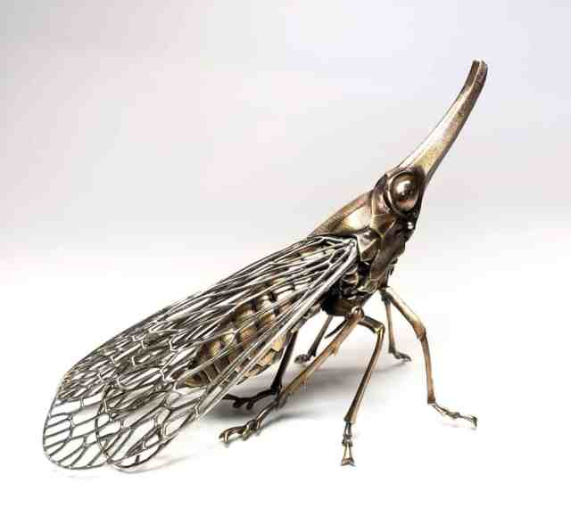 Bronze-Sculpted Prehistoric Insects