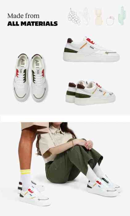 Sneakers made from Fruits and Plants