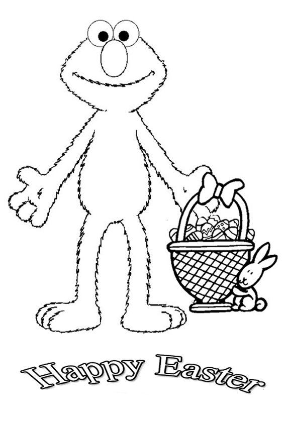 Bunny Basket Easter Coloring Pages