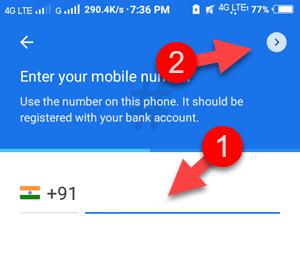 google-pay-mobile-number
