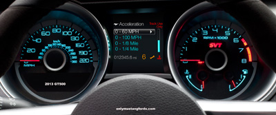2013 Shelby Mustang Track Apps