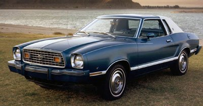 1977 ford mustang ll front