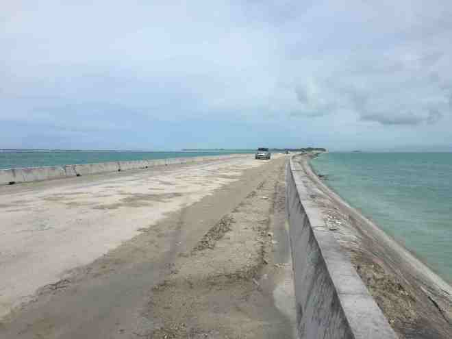 Causeway between Betio and Bairiki