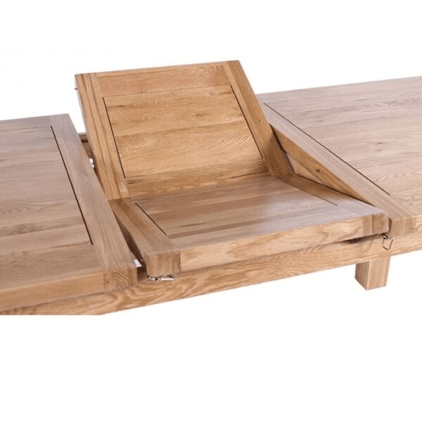Vancouver Oak Round Extendable Kitchen Table Only Oak Furniture
