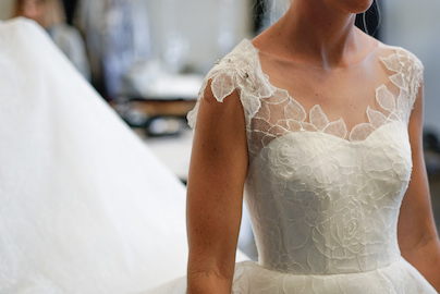 wedding gown fitting