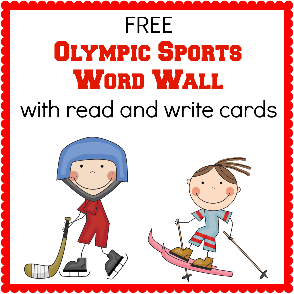 Winter Olympics Printables Only Passionate Curiosity