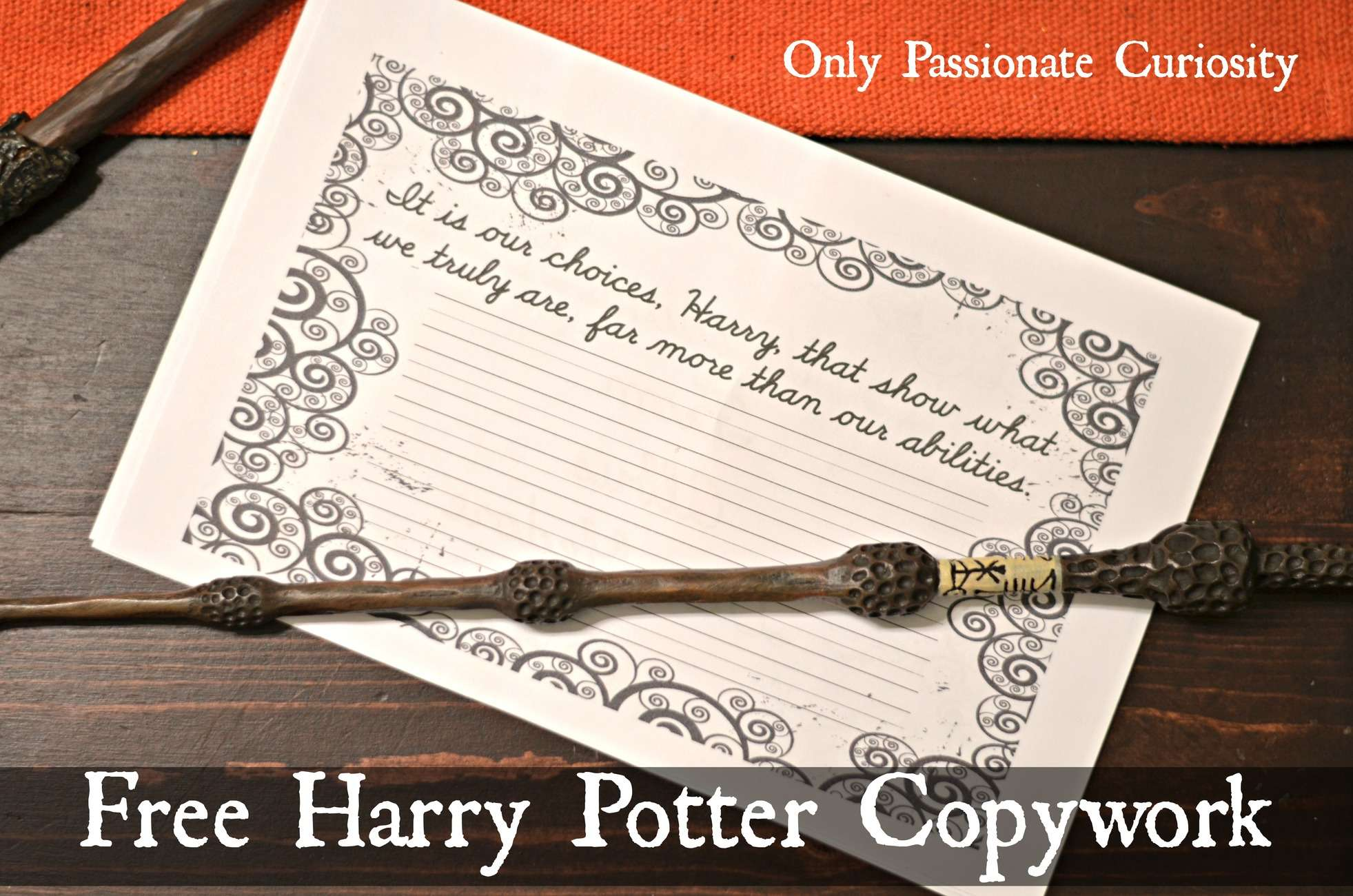 Free Harry Potter Themed Copywork Dumbledore Quotes