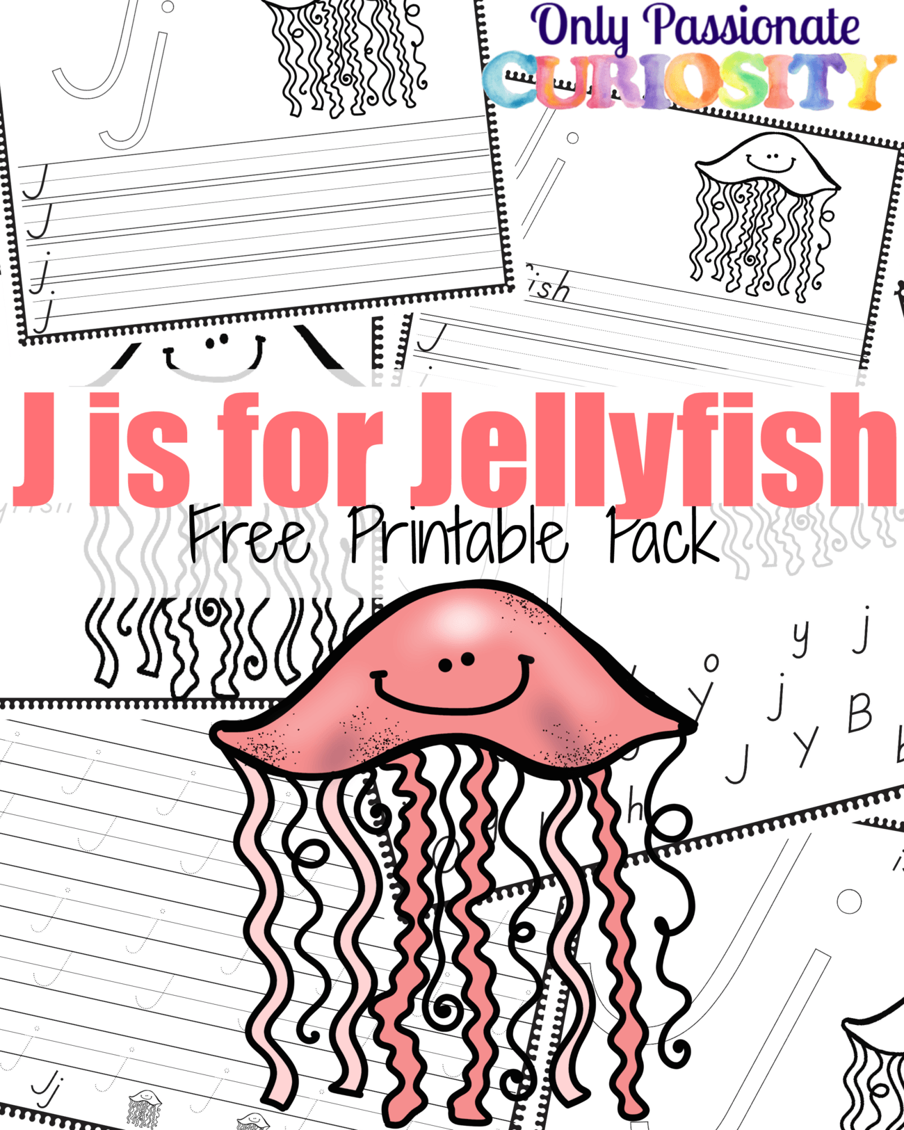 Jelly Fish J Is For Worksheet