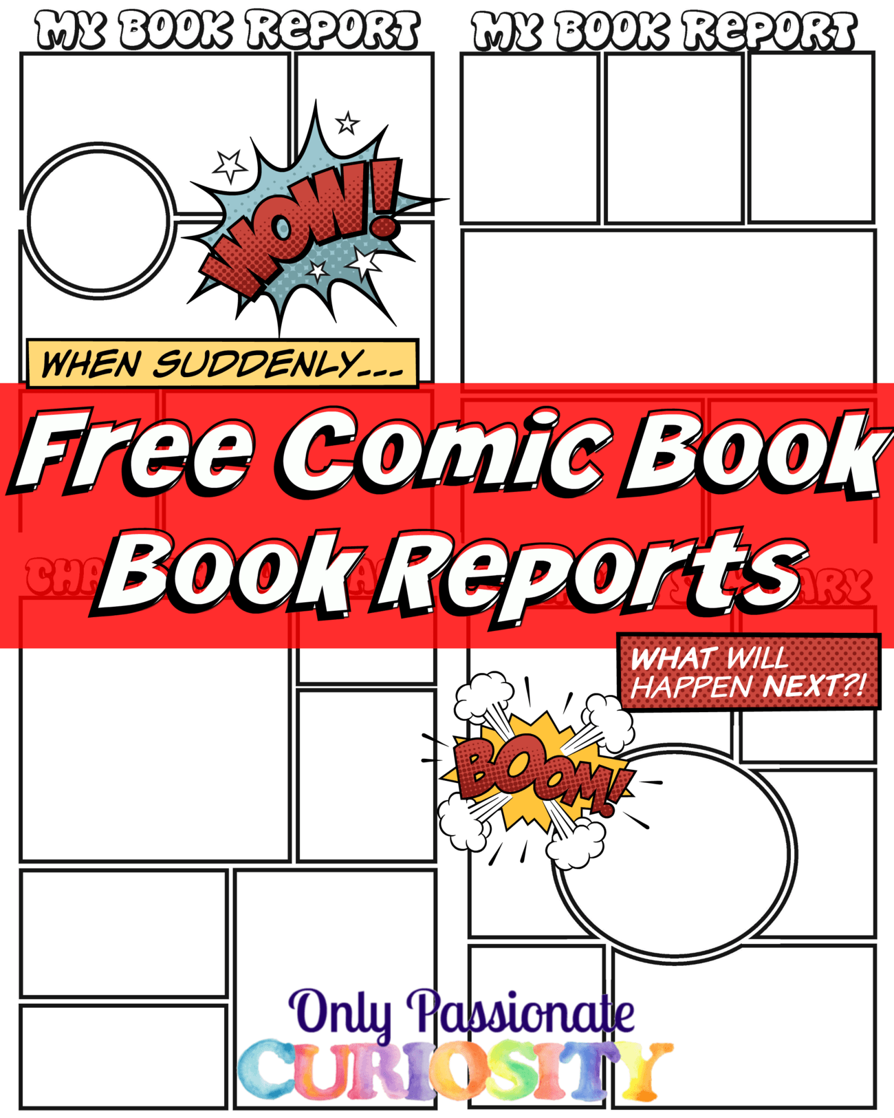 Comic Strip Book Reports