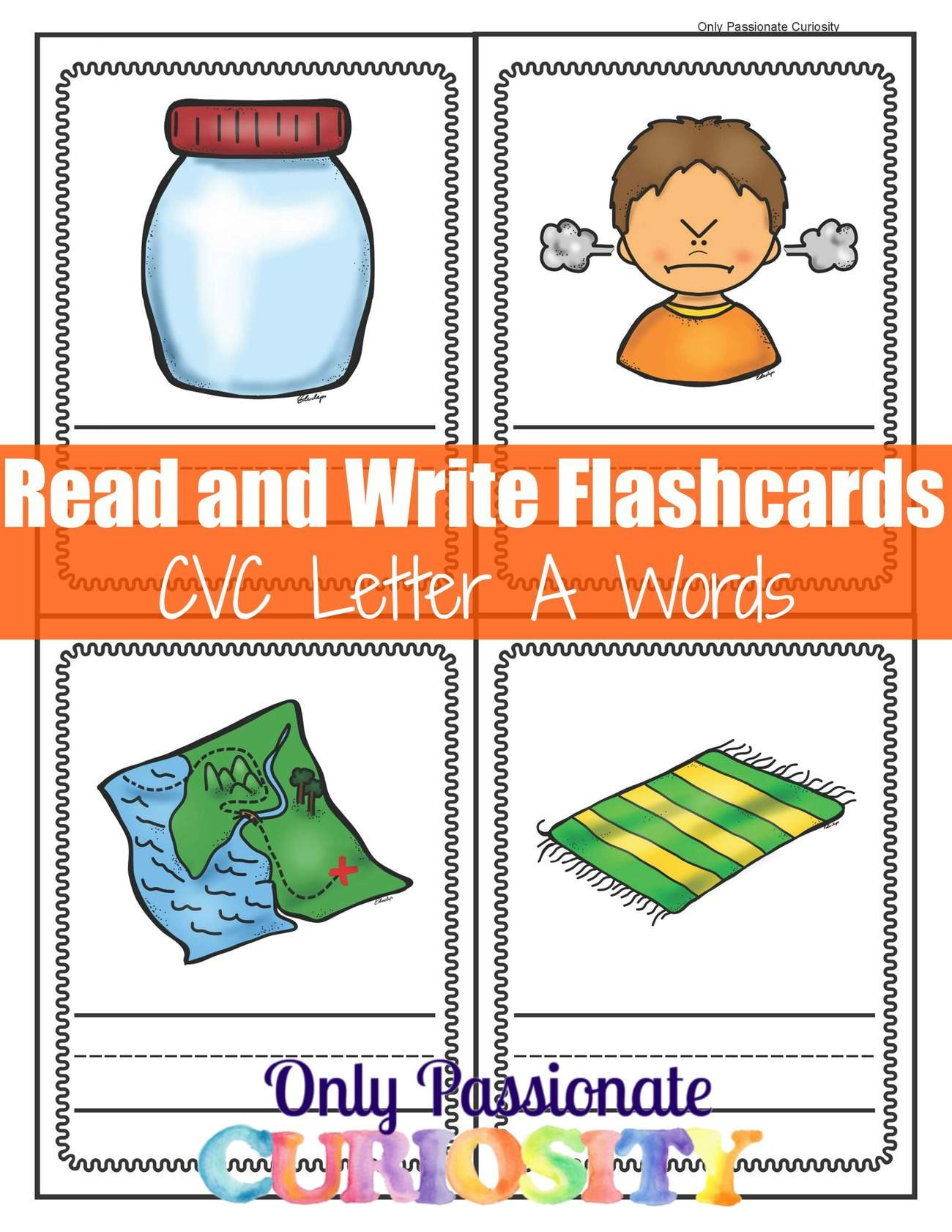 Cvc Letter A Write And Review Flashcards