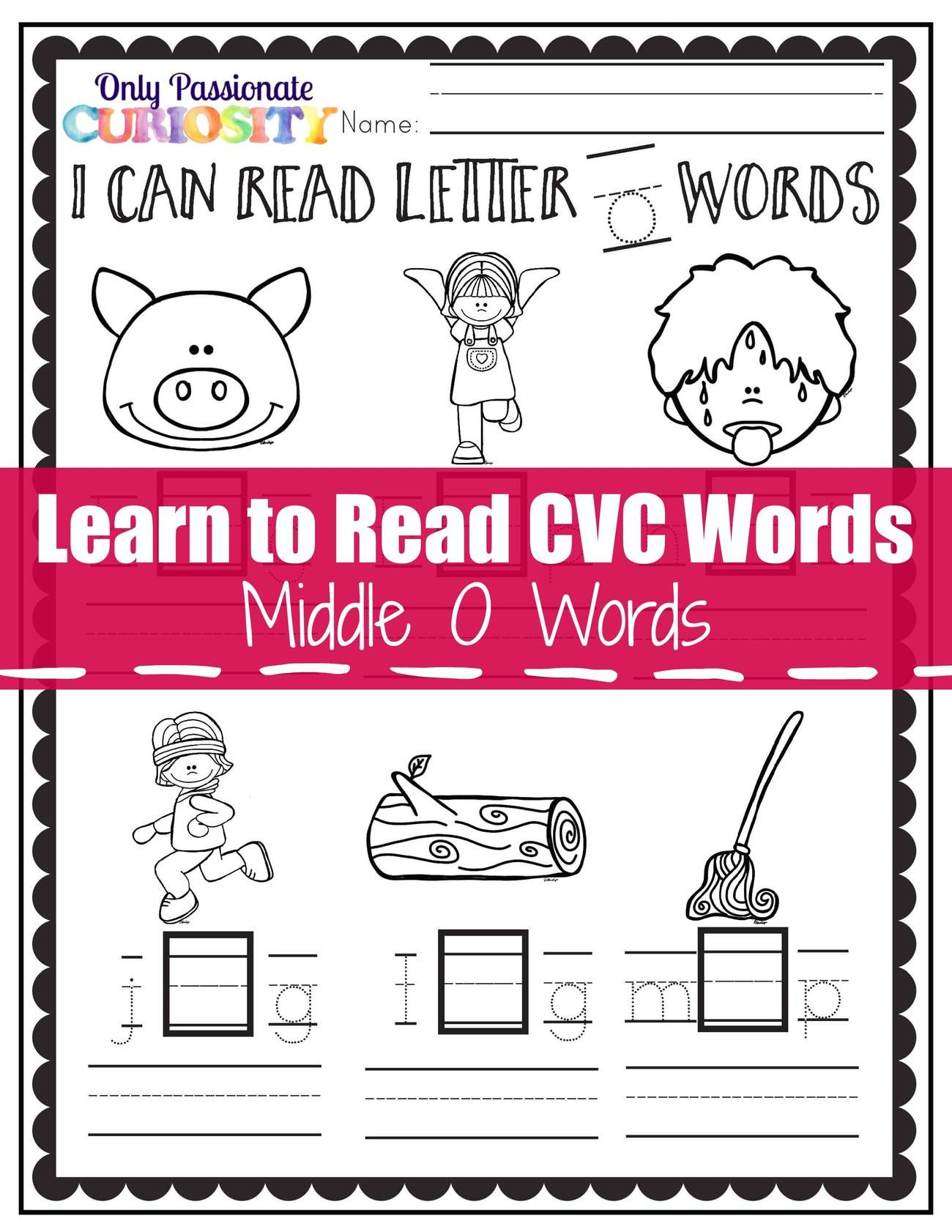 Learn To Read Cvc Words Middle O See And Write