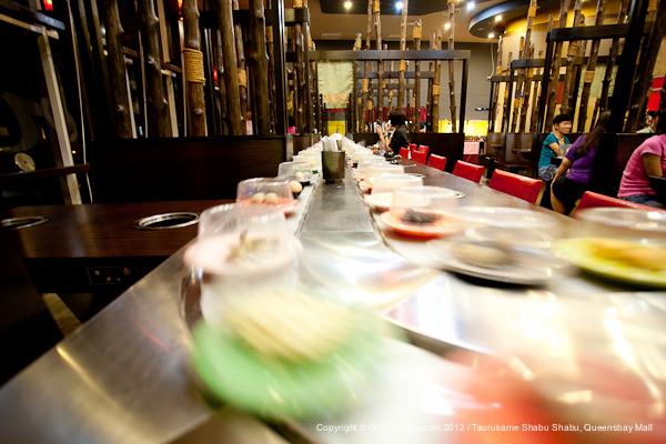 The first Shabu Shabu restaurant in Penang that serve food on a conveyor belt