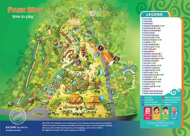 Penang Escape Theme Park Map