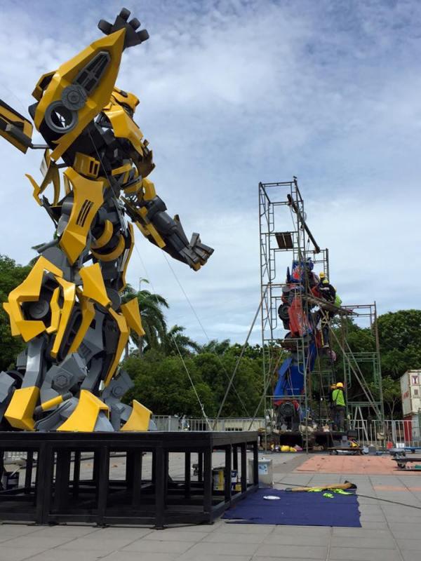 Transformers Street Art at Penang Esplanade