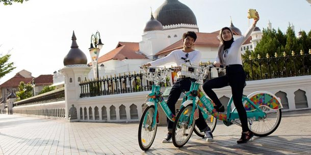 Penang LinkBike, Retrieve and return bike at any LinkBike dock