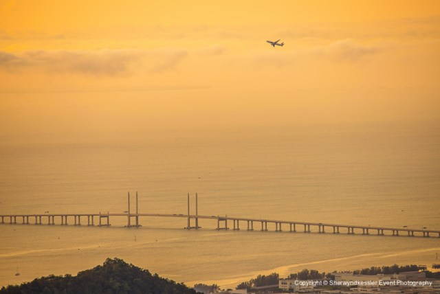 Penang Bridge view from Penang Hill - by Sherwyndkessler Event Photography