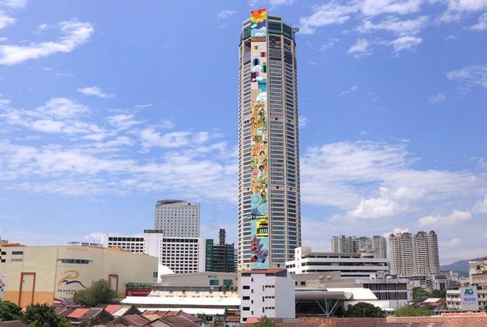 """Penang Komtar SkyArt The Top 2017, """"World's Tallest Mural"""""""