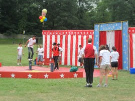 Theme Entertainment - Carnival Backdrop with Skills Instruction