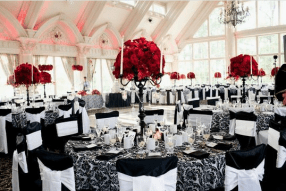 Black, White & Red Wedding