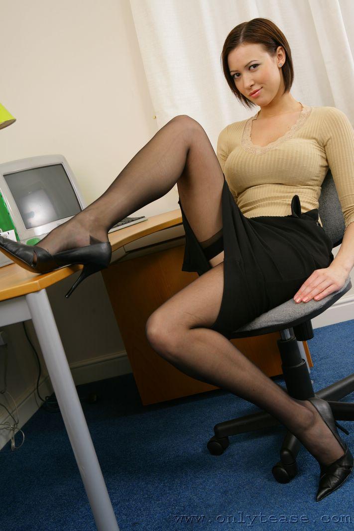 Skirt tease