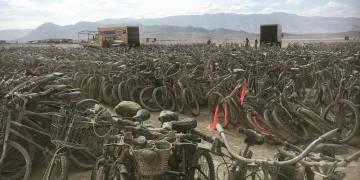More than 5 Thousand Bikes Left at Burning Man