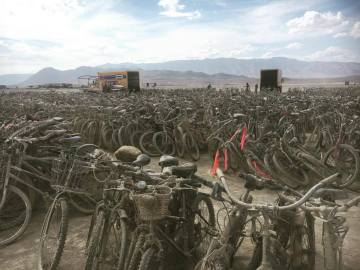 More than 5 Thousand Bikes Left at Burning Man
