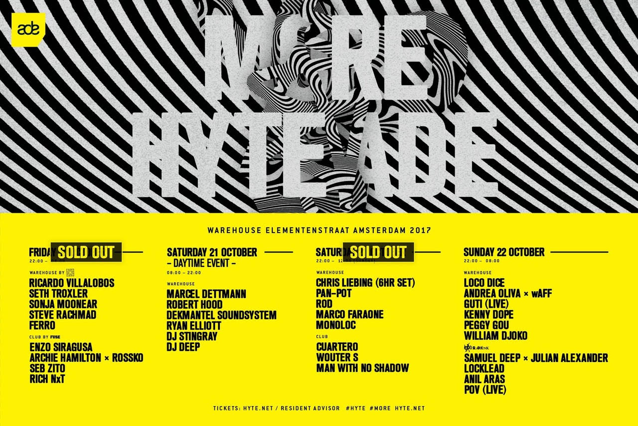 Two of four HYTE ADE events already sold out, tickets for the others are going fast, too 3