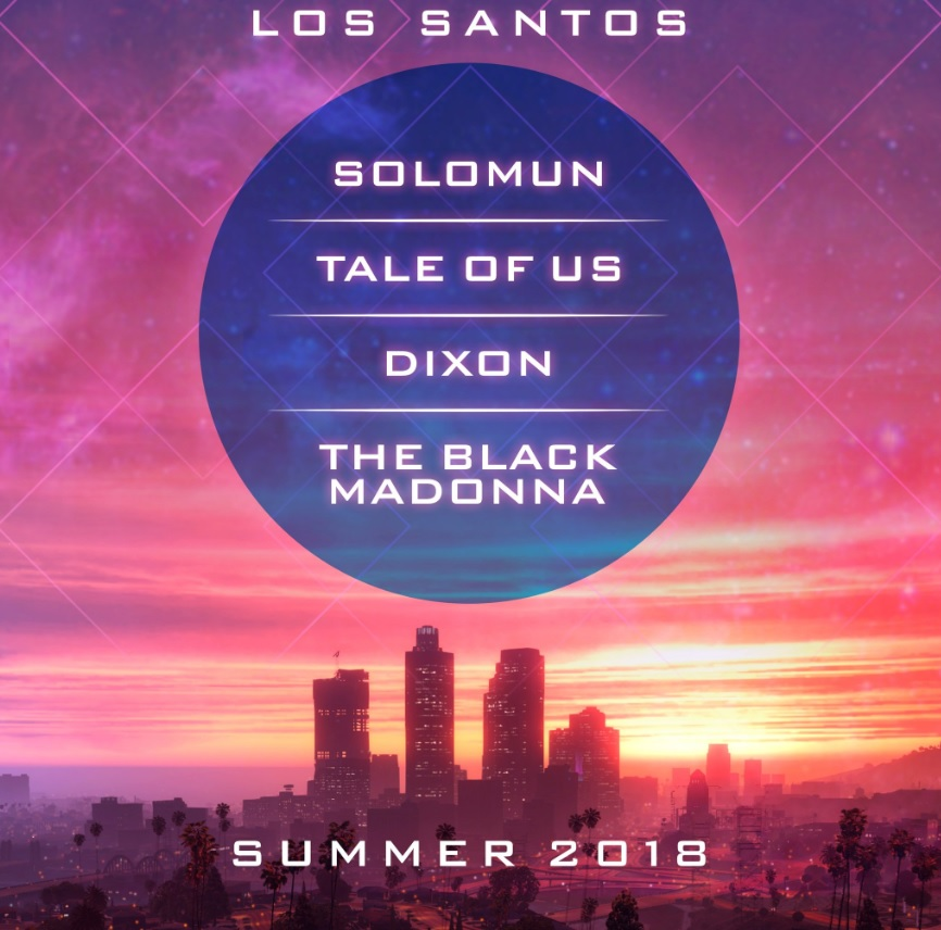 Music from Solomun, Tale Of Us, Dixon and The Black Madonna in GTA Los Santos