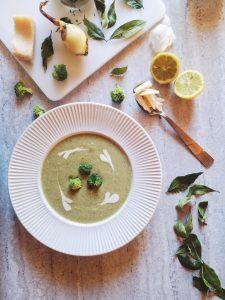 potage à la crème de brocoli