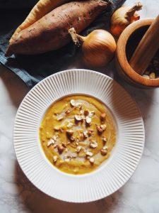 soupe aux patates douces et panais