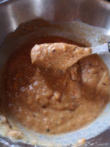 Ingrédients mélangés : la pâte doit être homogène