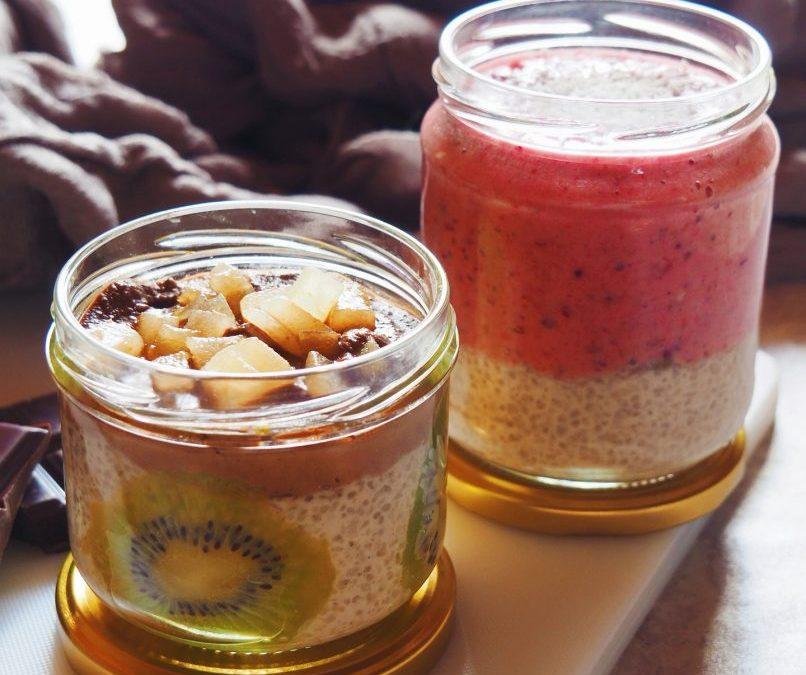 dessert de tapioca au lait de coco et fruits rouges