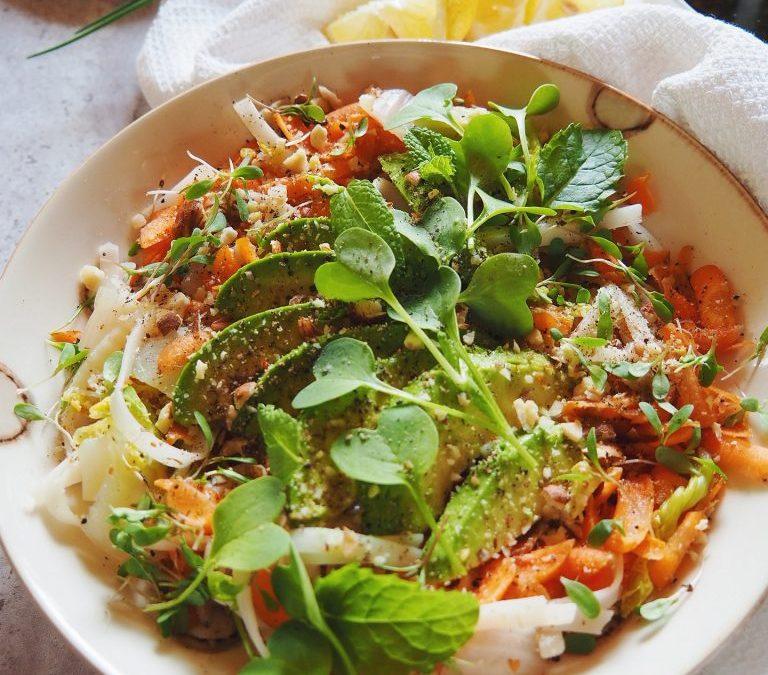 Salade Thaï végétarienne au chou chinois