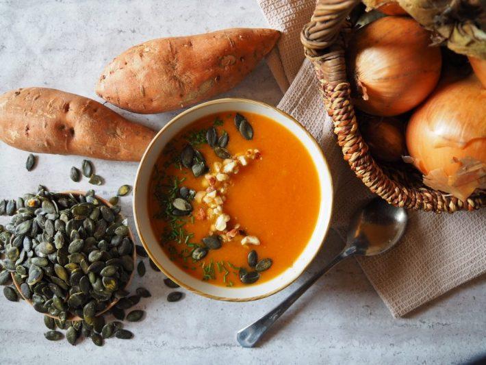 Soupe à la patate douce, carottes et fenouil - Savoureuse - Recette rapide