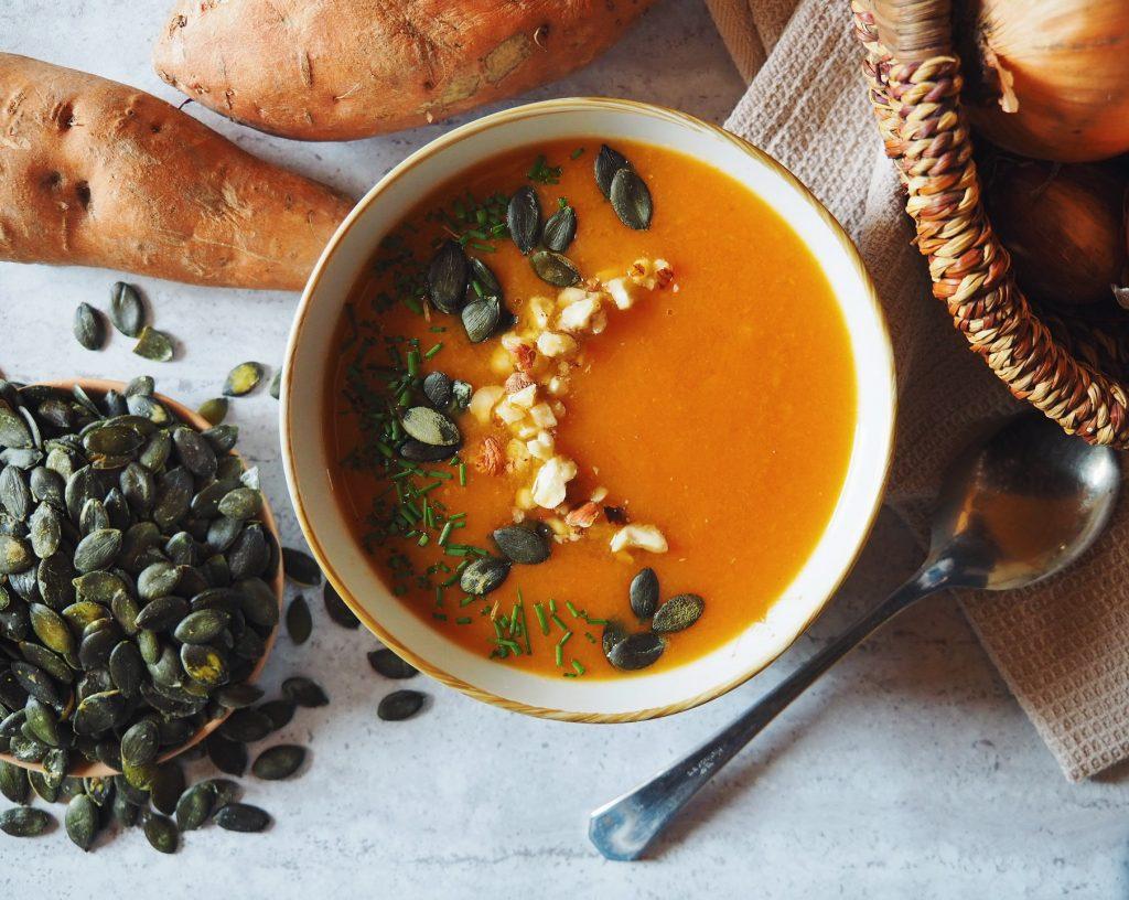 Soupe à la patate douce, carottes et fenouil